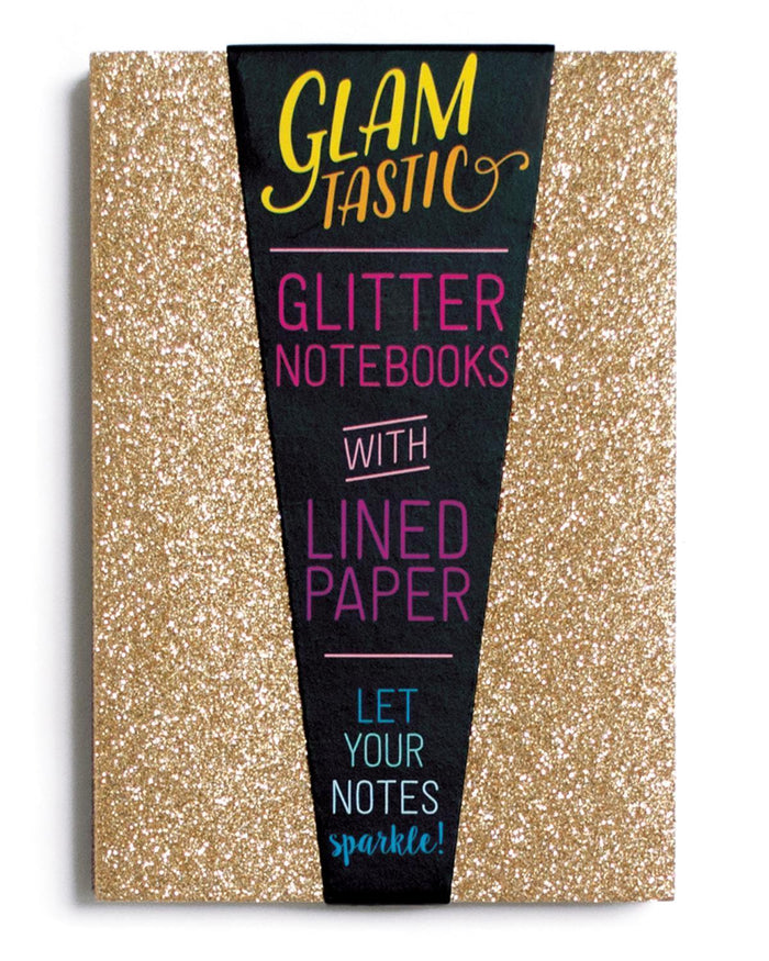 Little ooly paper+party Glamtastic Notebook Set in Gold + Bronze