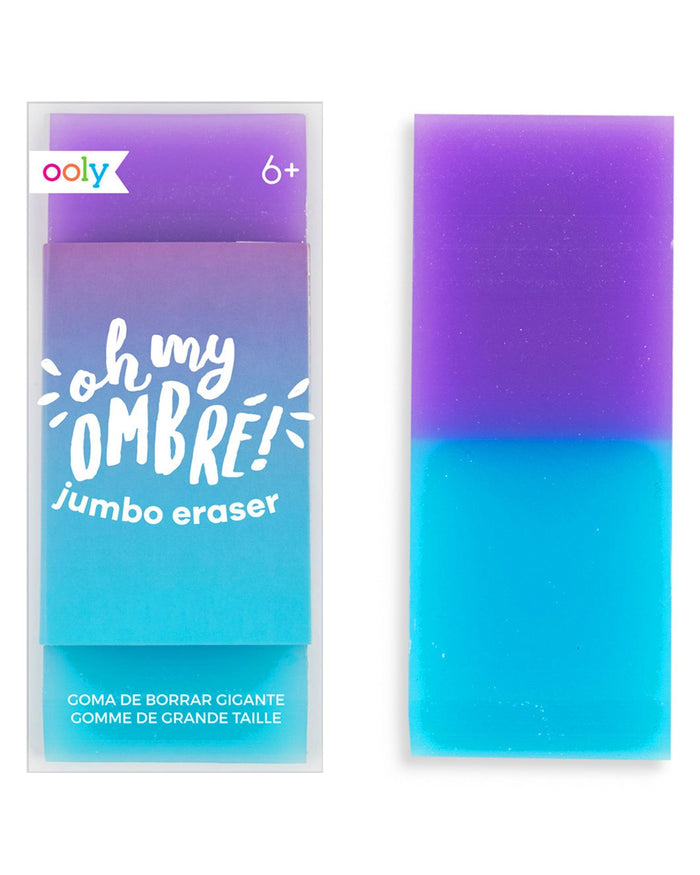 Little ooly play oh my glitter! purple jumbo eraser