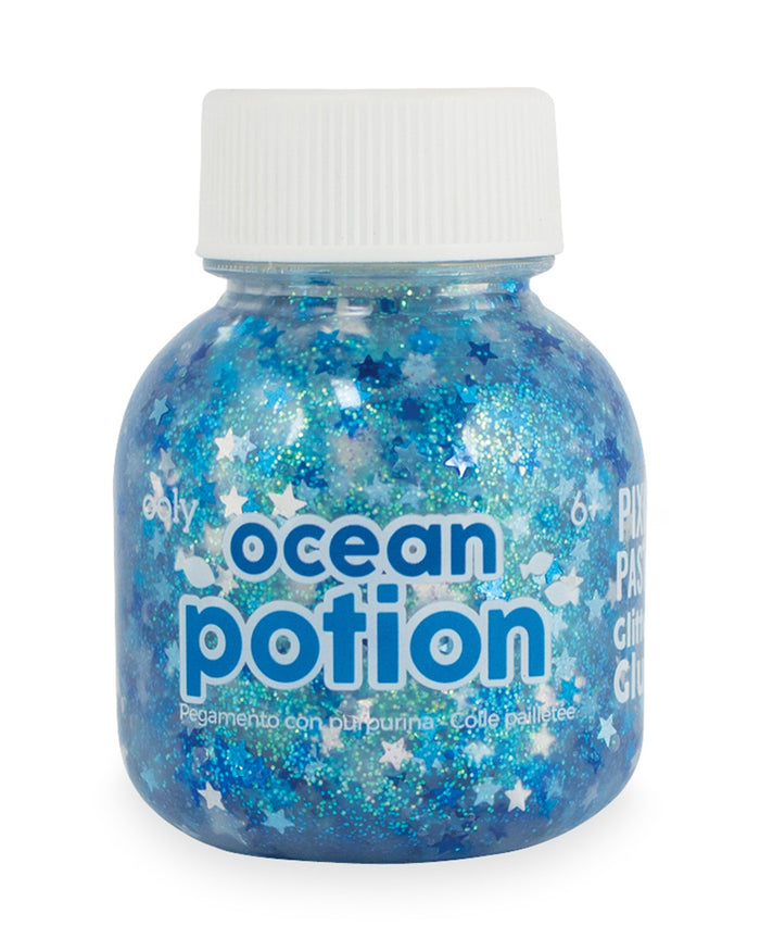Little ooly play pixie paste brush-on glitter glue in ocean potion