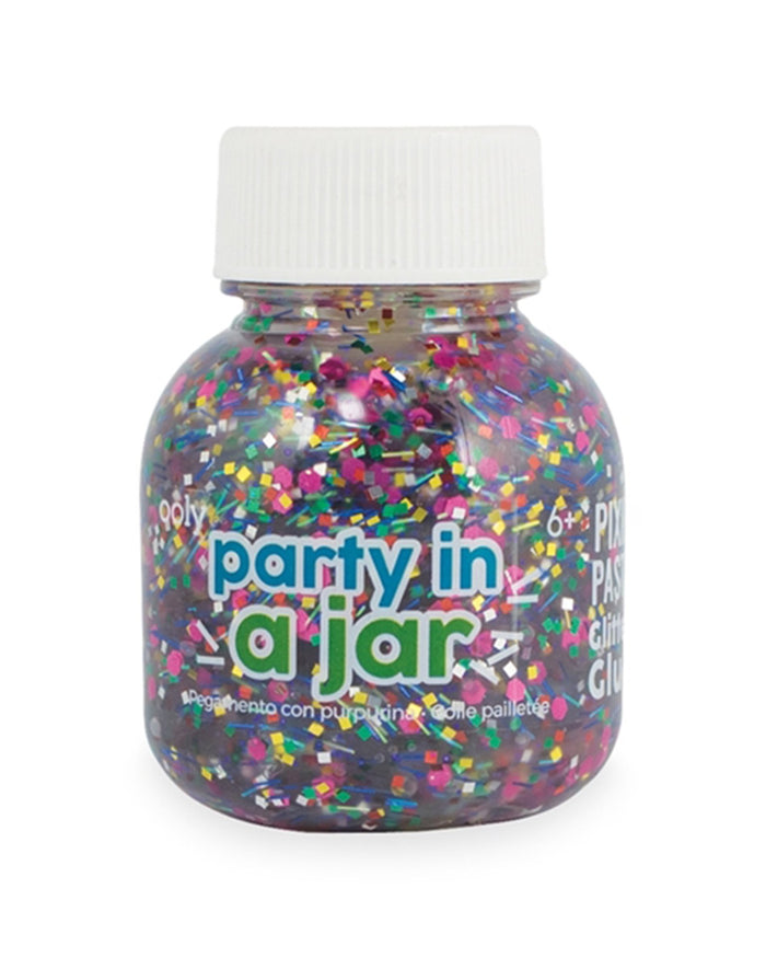 Little ooly play pixie paste brush-on glitter glue in party in a jar