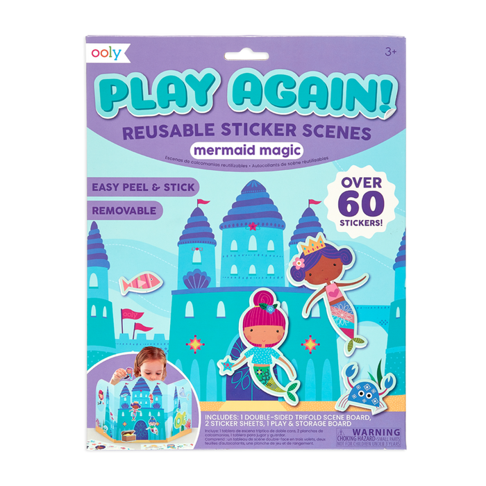 Little ooly play Play Again! Reusable Sticker Scenes - Mermaid Magic