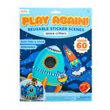 Little ooly play Play Again! Reusable Sticker Scenes - Space Critters