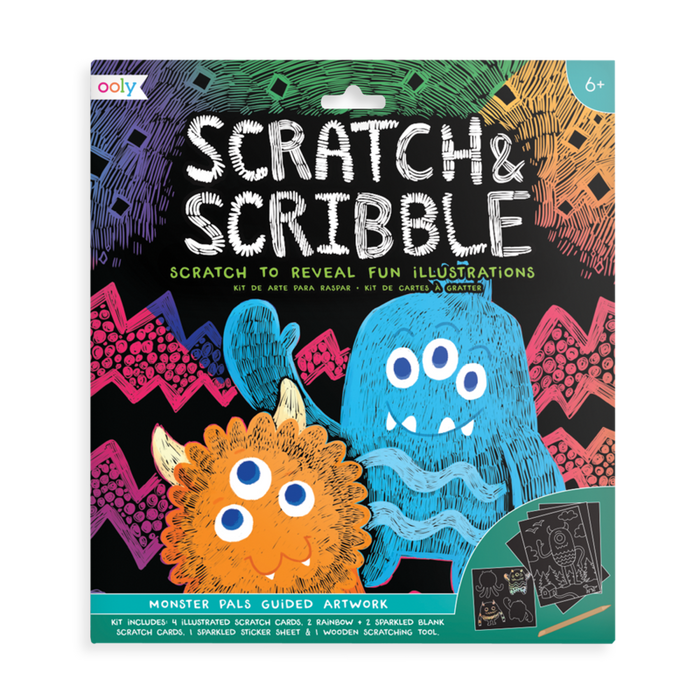 Little ooly play Scratch & Scribble - Monster Pals - 10 Piece Set