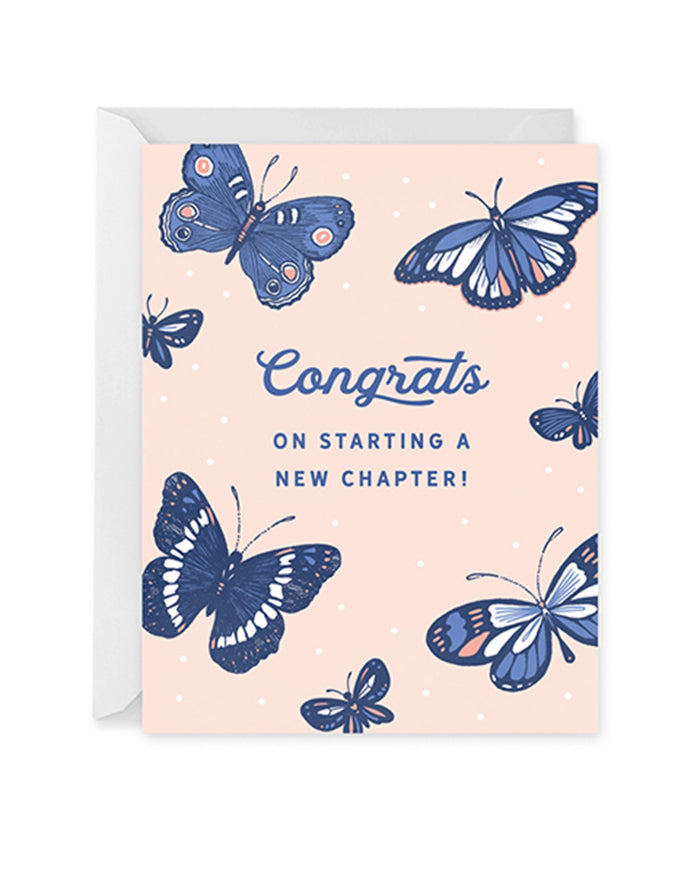Little paper raven co. paper+party butterfly congrats card