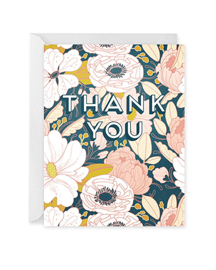 Little paper raven co. paper+party evening floral thank you