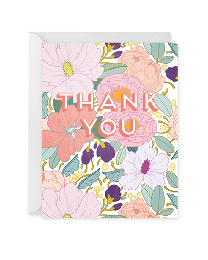 Little paper raven co. paper+party full floral thank you card