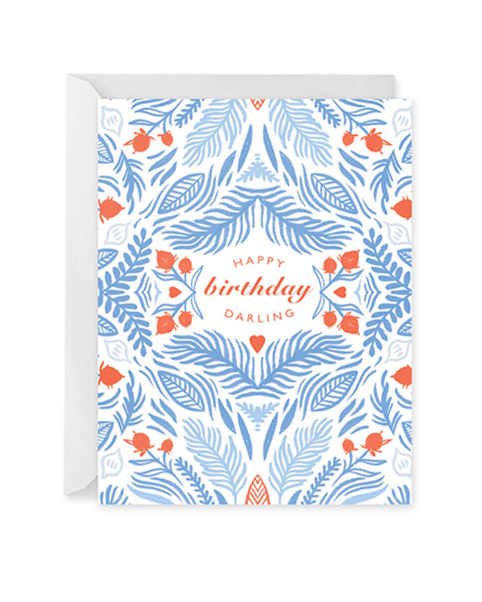 Little paper raven co. paper+party happy birthday darling card