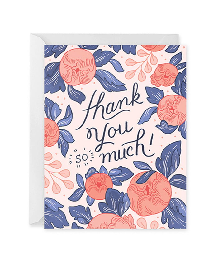 Little paper raven co. paper+party thank you bouquet card