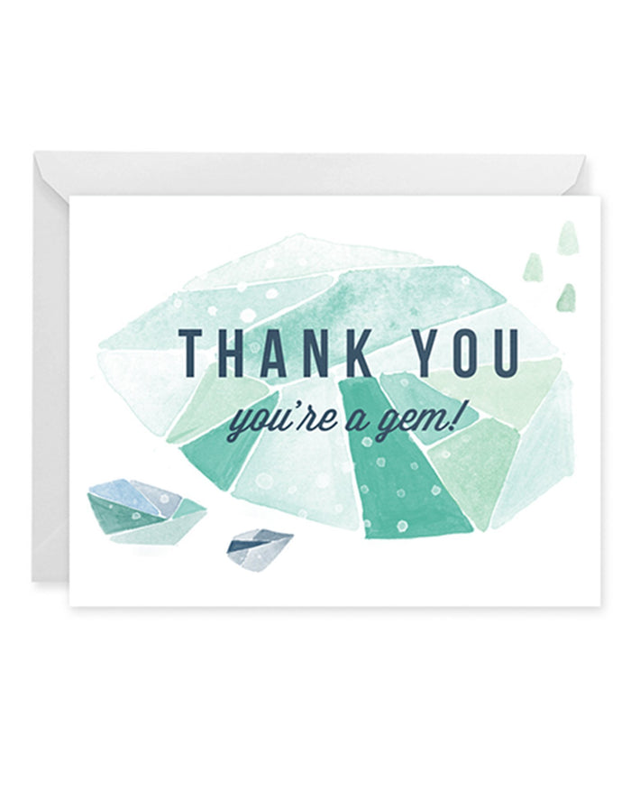 Little paper raven co. paper+party thanks you're a gem card
