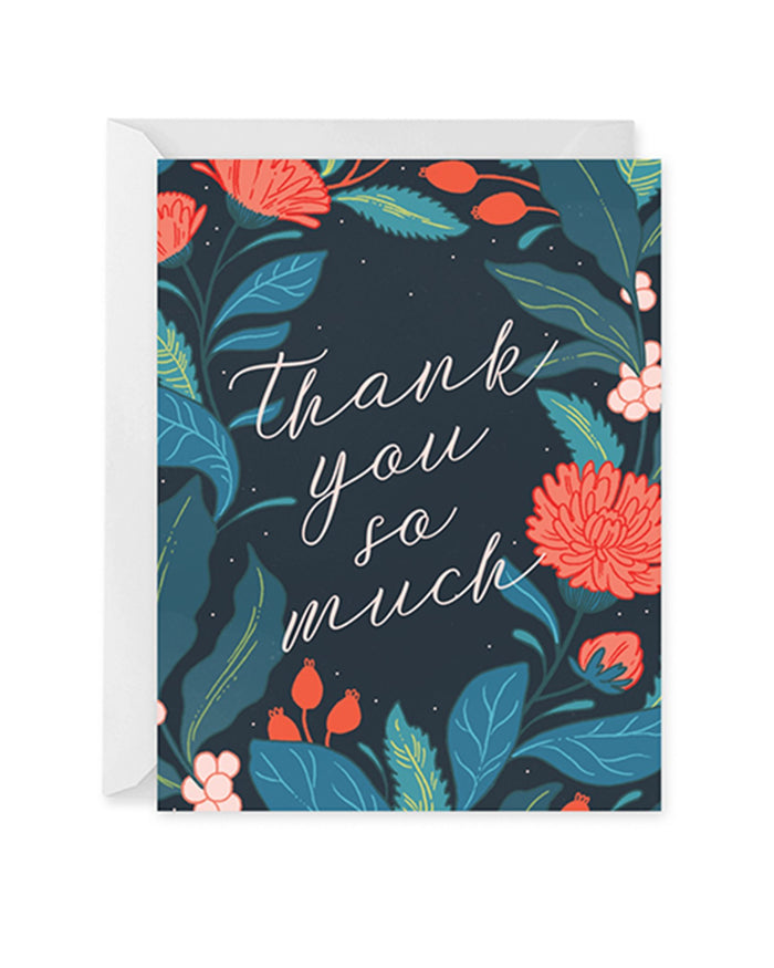 Little paper raven co. paper+party wildwood thank you card
