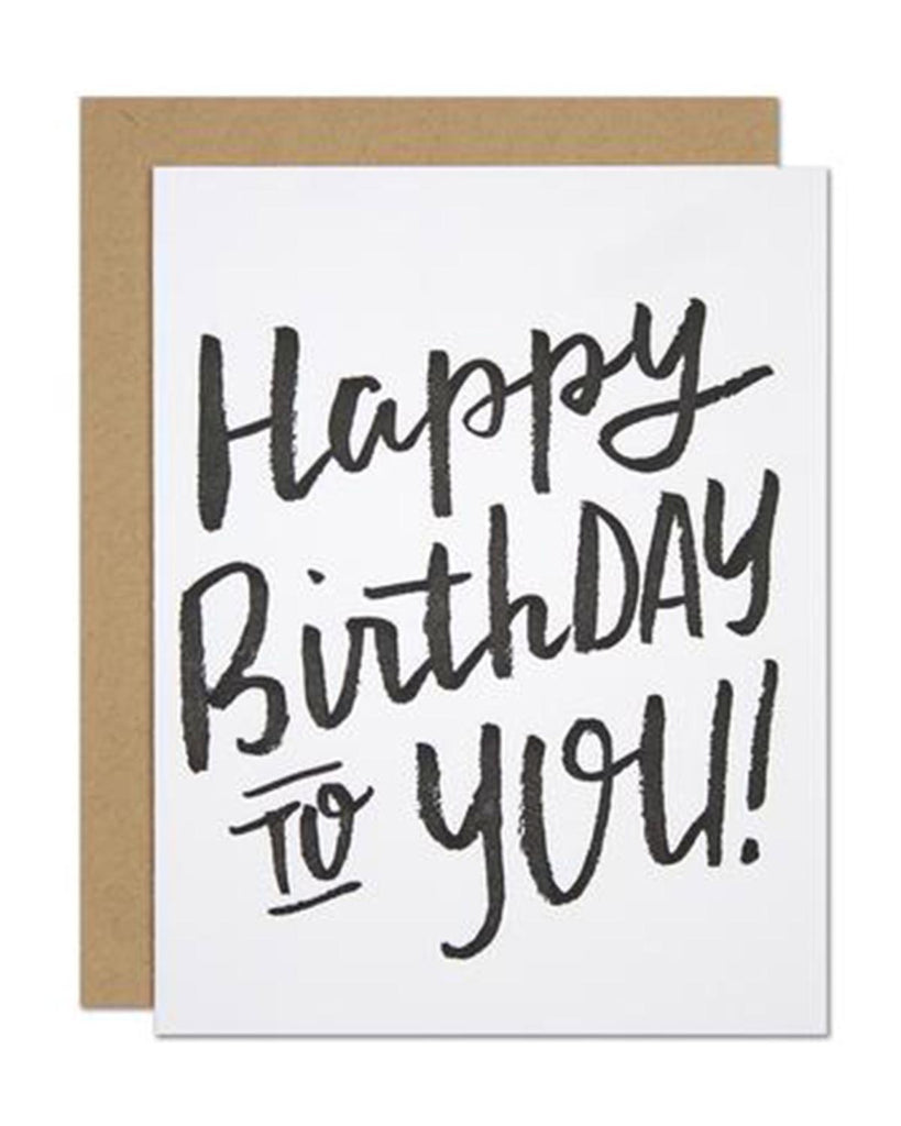 Little parrott design studio paper+party Birthday Brush Card