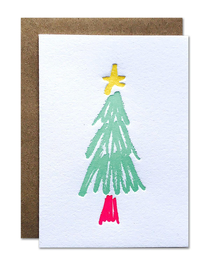 Little parrott design studio paper+party Christmas Tree Mini Card