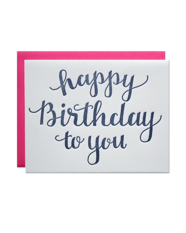 Little parrott design studio paper+party Happy Birthday to You Card