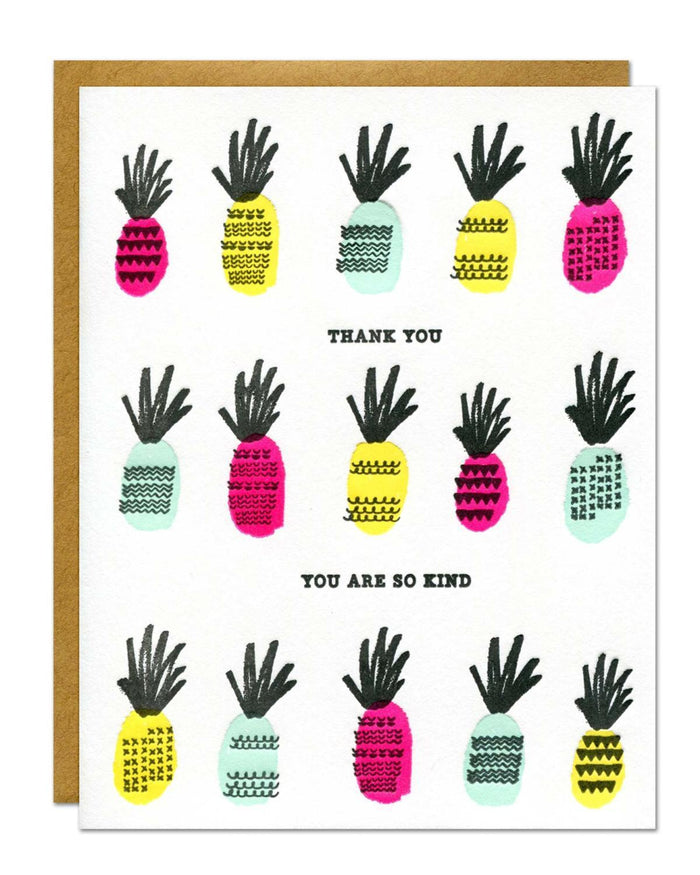 Little parrott design studio paper+party kind pineapple card
