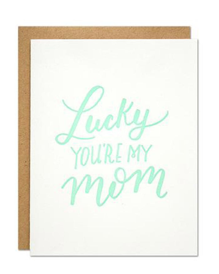 Little parrott design studio paper+party Lucky You're My Mom Card