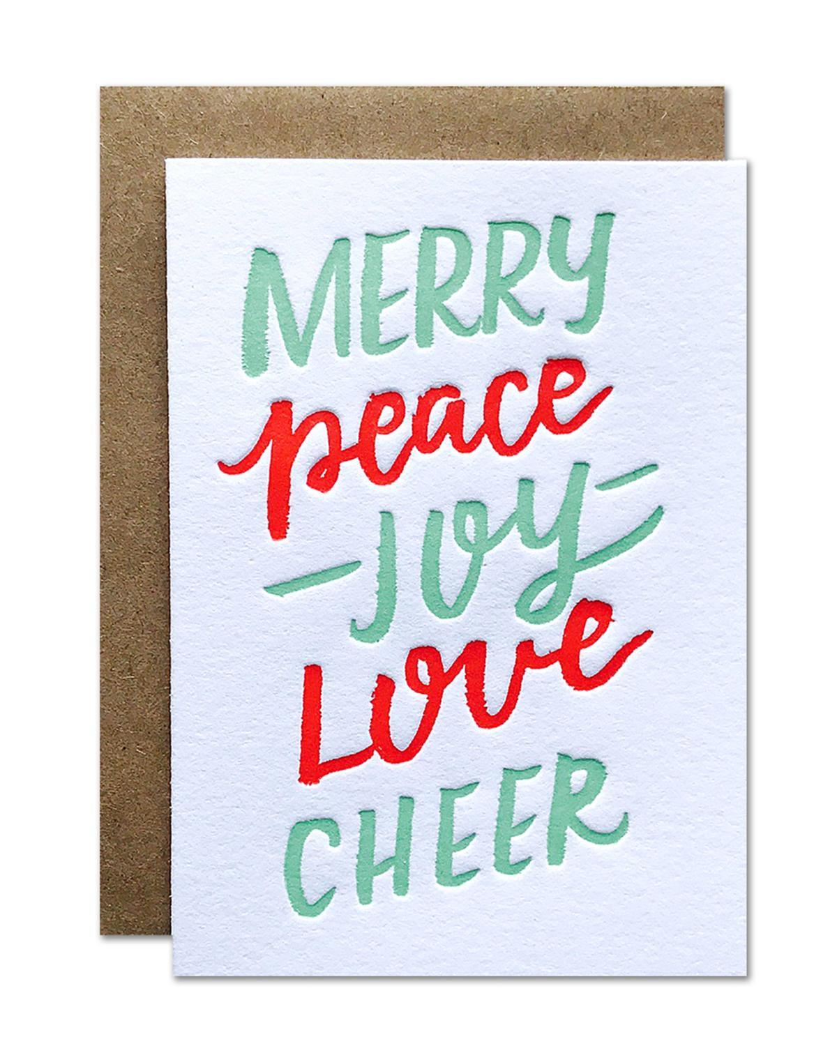 Little parrott design studio paper+party Merry Cheer Mini Card
