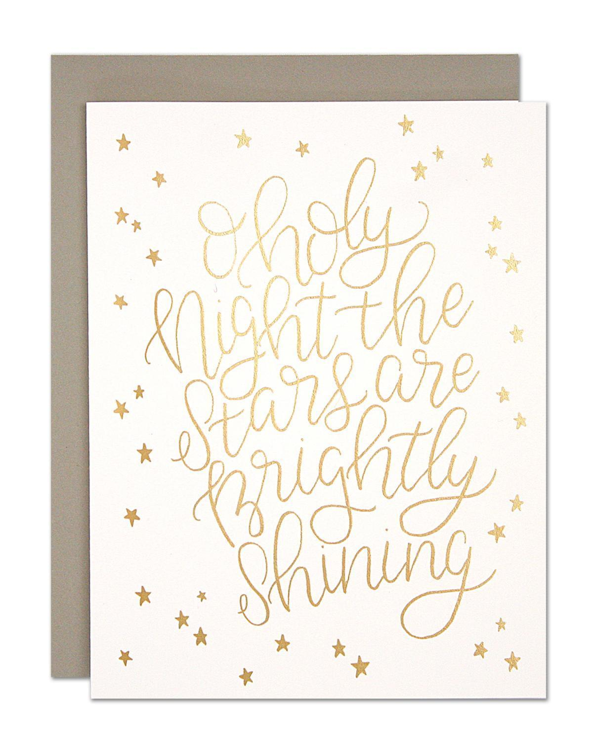 Little parrott design studio paper+party Oh Holy Night Card