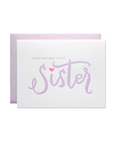 Little parrott design studio paper+party Sister Birthday Card