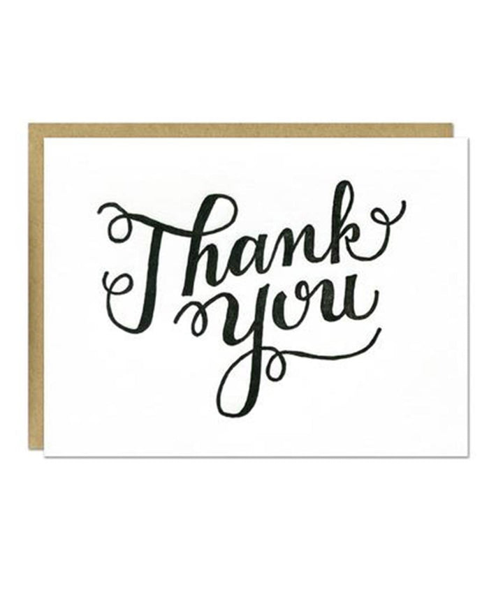 Little parrott design studio paper+party Thank You Script Card