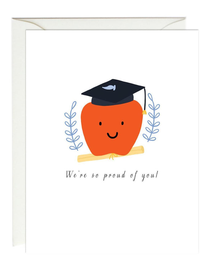 Little paula + waffle paper+party apple graduation card
