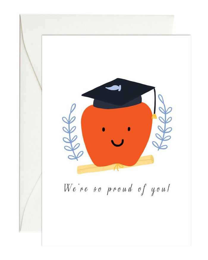 Little paula + waffle paper+party apple graduation mini card