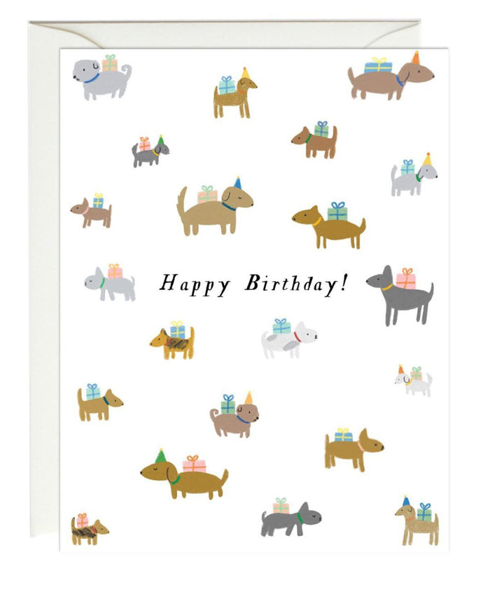 Little paula + waffle paper+party birthday dogs card