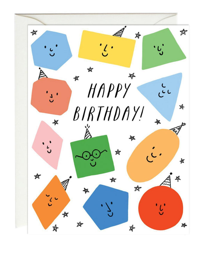 Little paula + waffle paper+party birthday shapes card