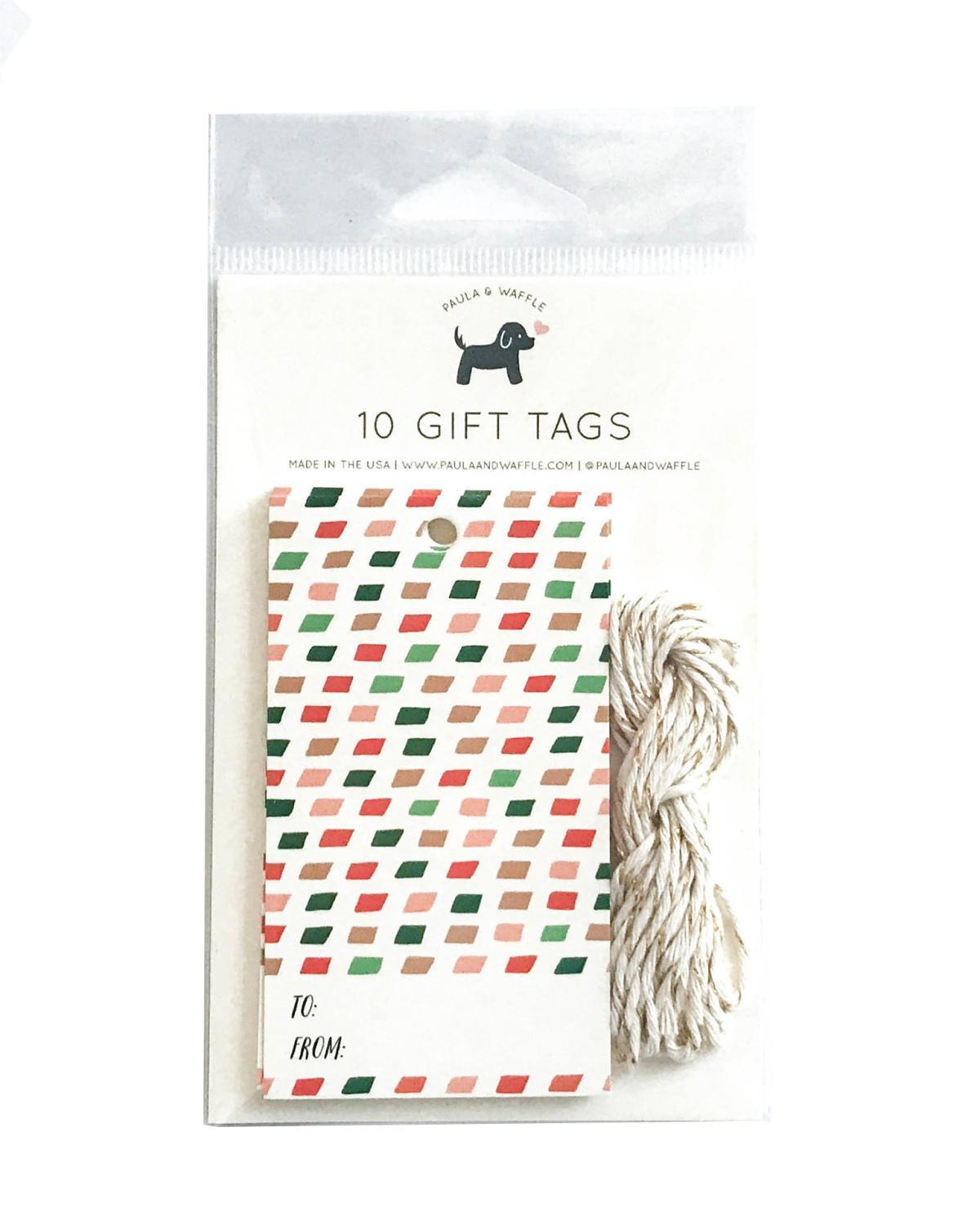 Little paula + waffle paper+party Christmas Colors Gift Tags