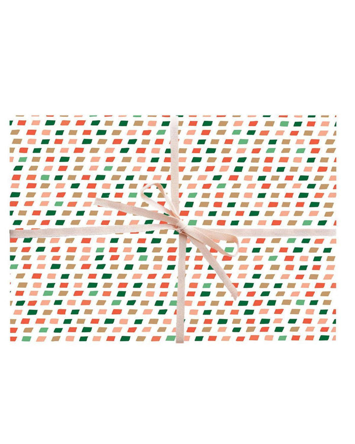 Little paula + waffle paper+party Christmas Colors Gift Wrap