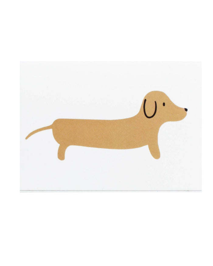 Little paula + waffle paper+party Dachshund Mini Card