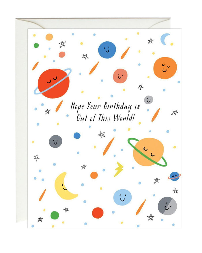Little paula + waffle paper+party out of this world birthday card