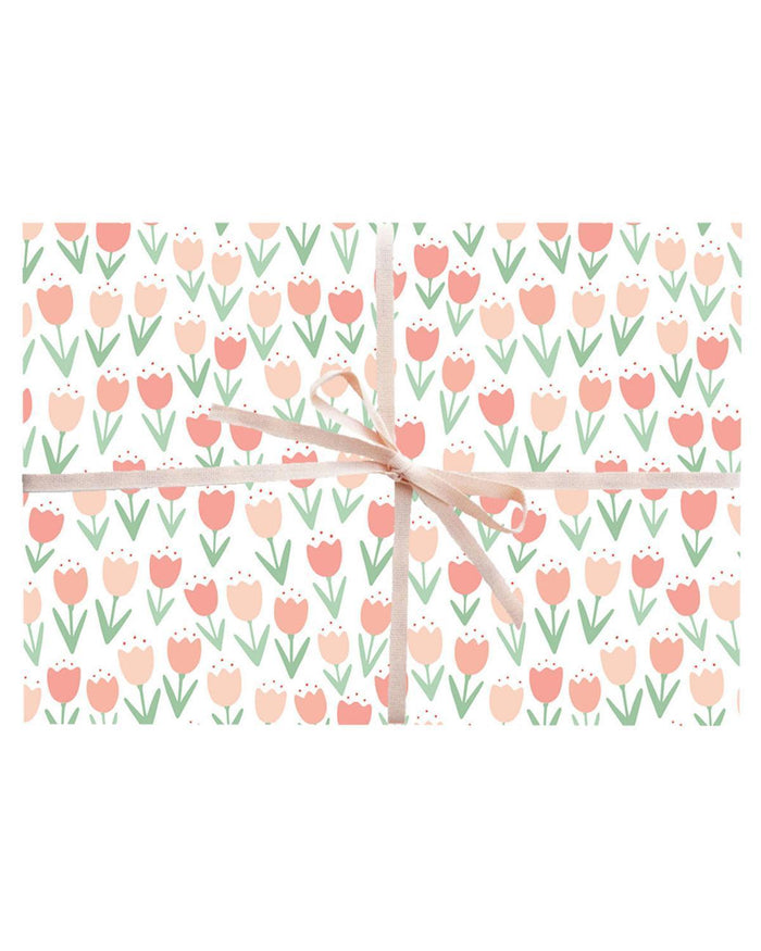 Little paula + waffle paper+party Tulips Wrapping Sheets
