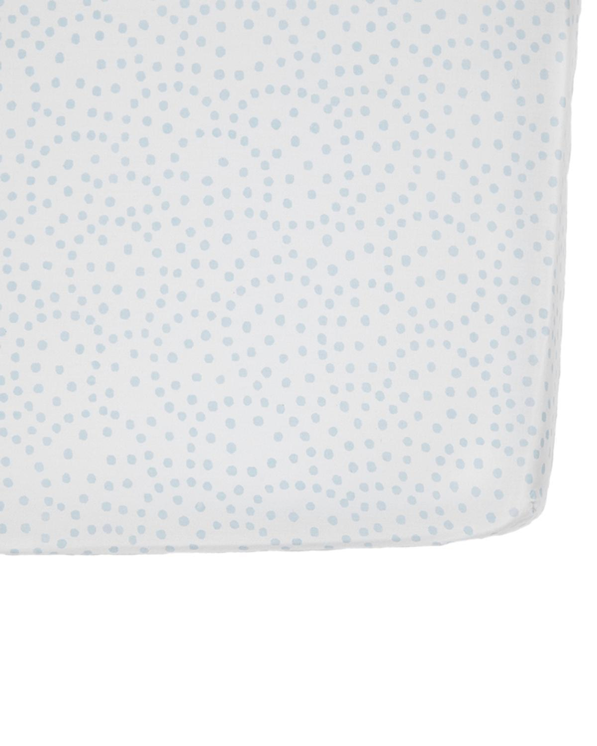 Little pehr designs inc room Blue Dots Crib Sheet