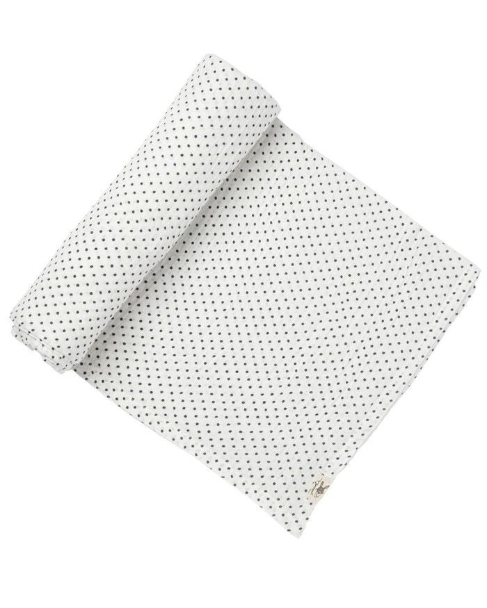 Little pehr designs inc baby accessories Navy Pin Dot Swaddle