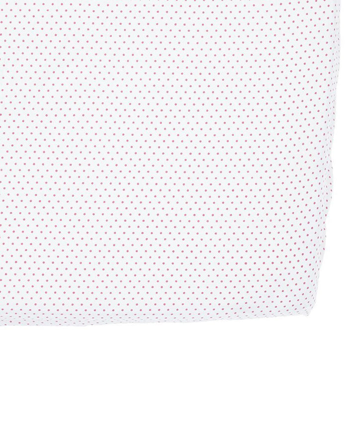 Little pehr designs inc room Pin Dot Crib Sheet in Fuchsia