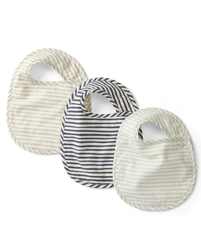 Little pehr designs inc baby accessories stripes away 3-pack bib set in sea