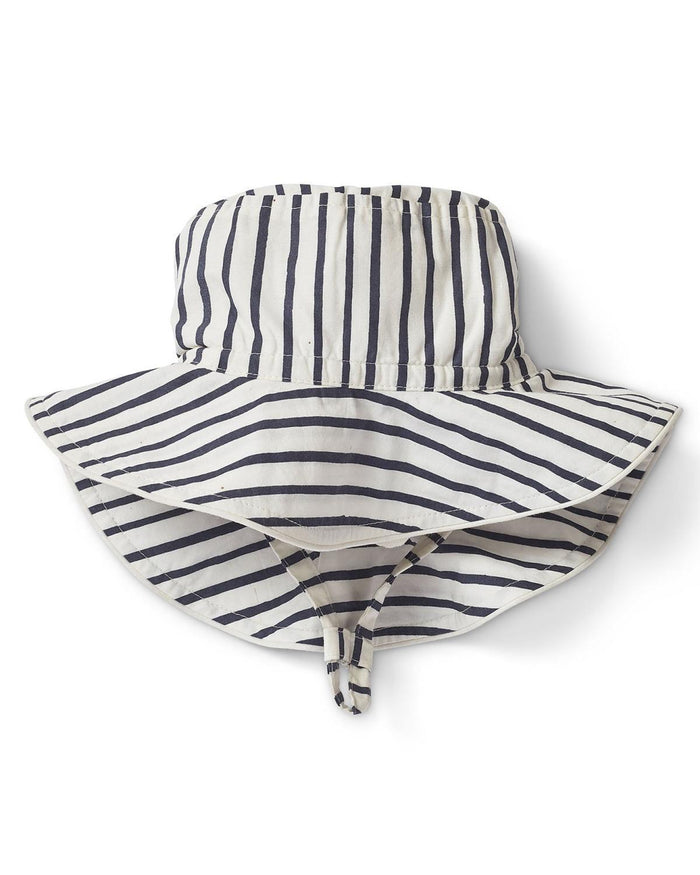 Little pehr designs inc baby accessories 0-6 stripes away bucket hat in ink