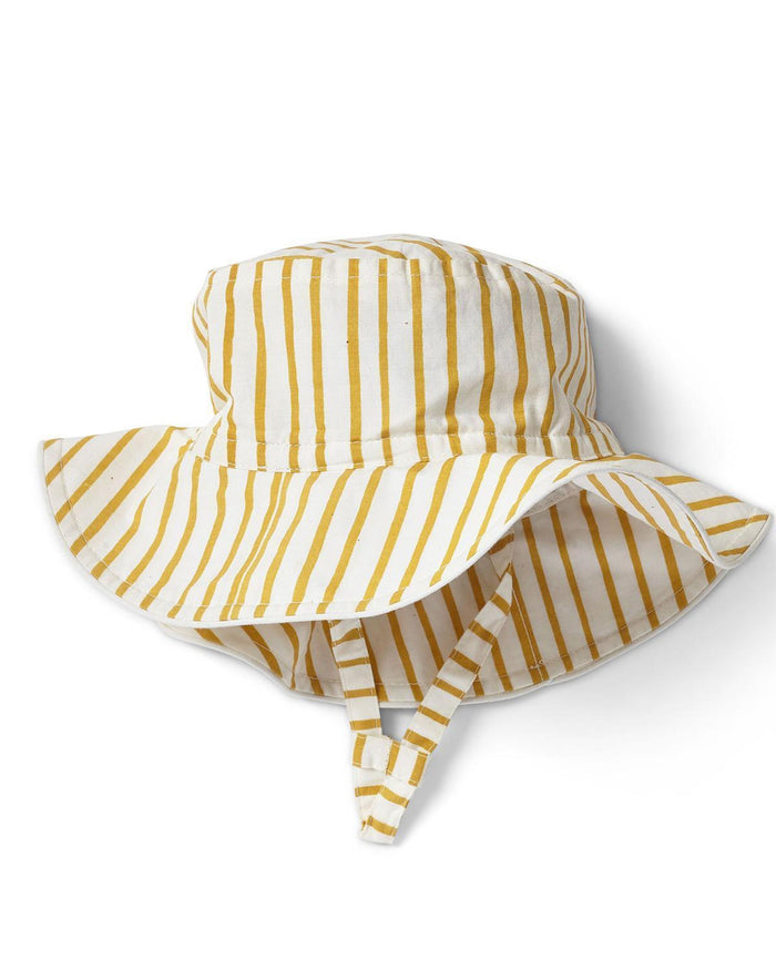 Little pehr designs inc baby accessories 0-6 stripes away bucket hat in marigold