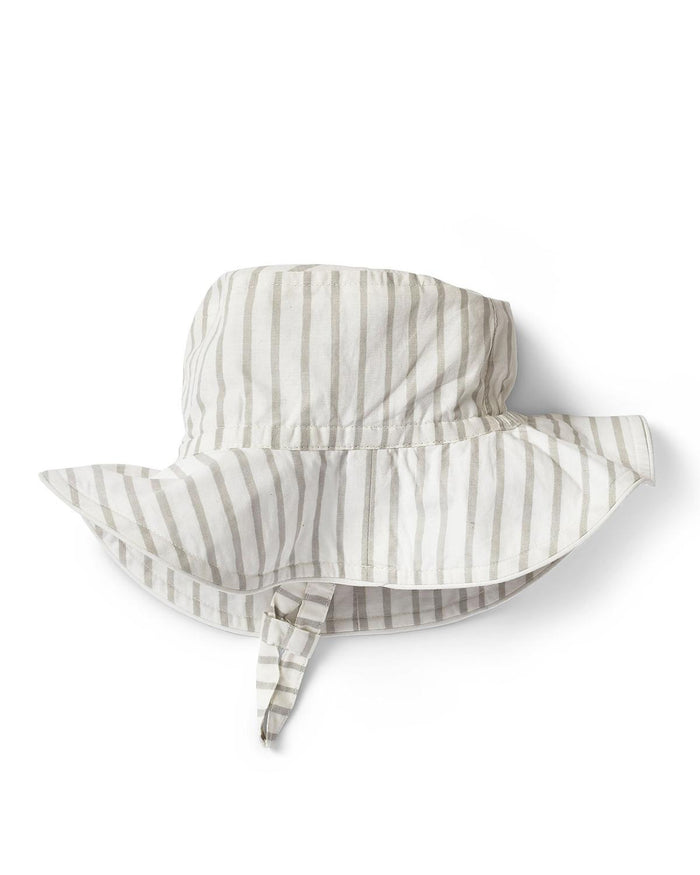 Little pehr designs inc baby accessories 0-6 stripes away bucket hat in pebble