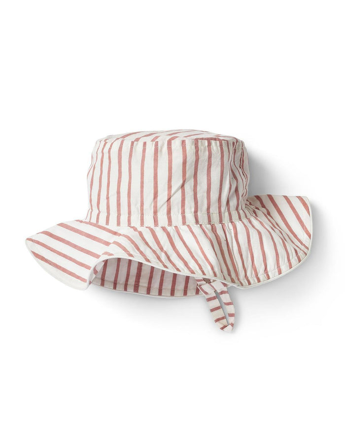 Little pehr designs inc baby accessories 0-6 stripes away bucket hat in pink