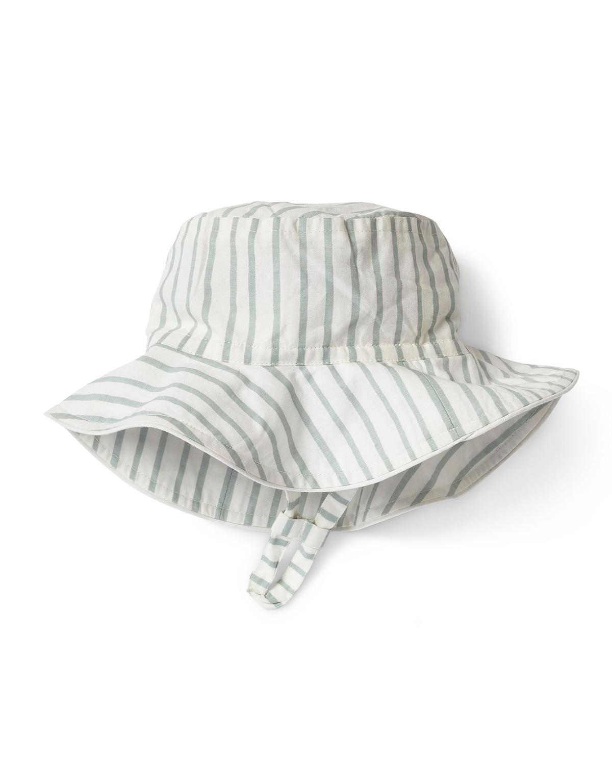 Little pehr designs inc baby accessories 0-6 stripes away bucket hat in sea