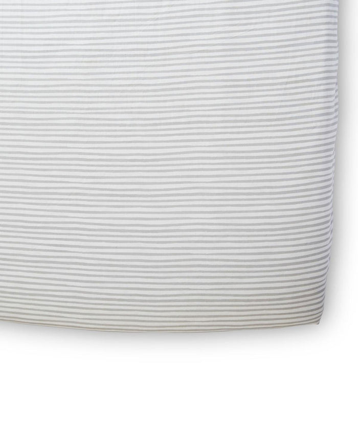 Little pehr designs inc room stripes away crib sheet in pebble