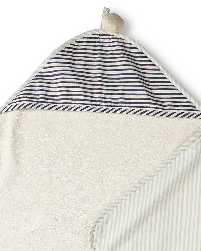 Little pehr designs inc room stripes away hooded towel in sea