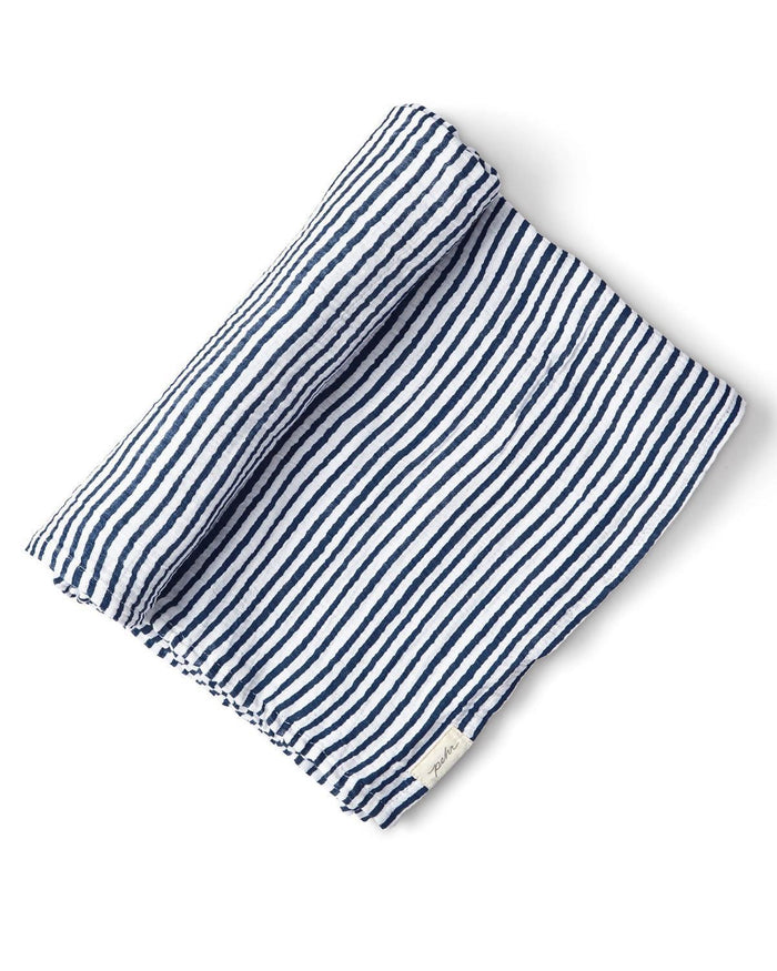 Little pehr designs inc baby accessories stripes away swaddle in ink