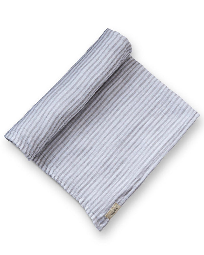 Little pehr designs inc baby accessories stripes away swaddle in pebble