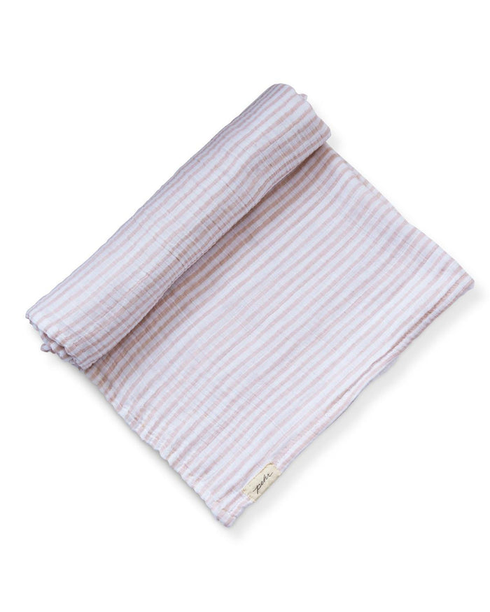 Little pehr designs inc baby accessories stripes away swaddle in petal
