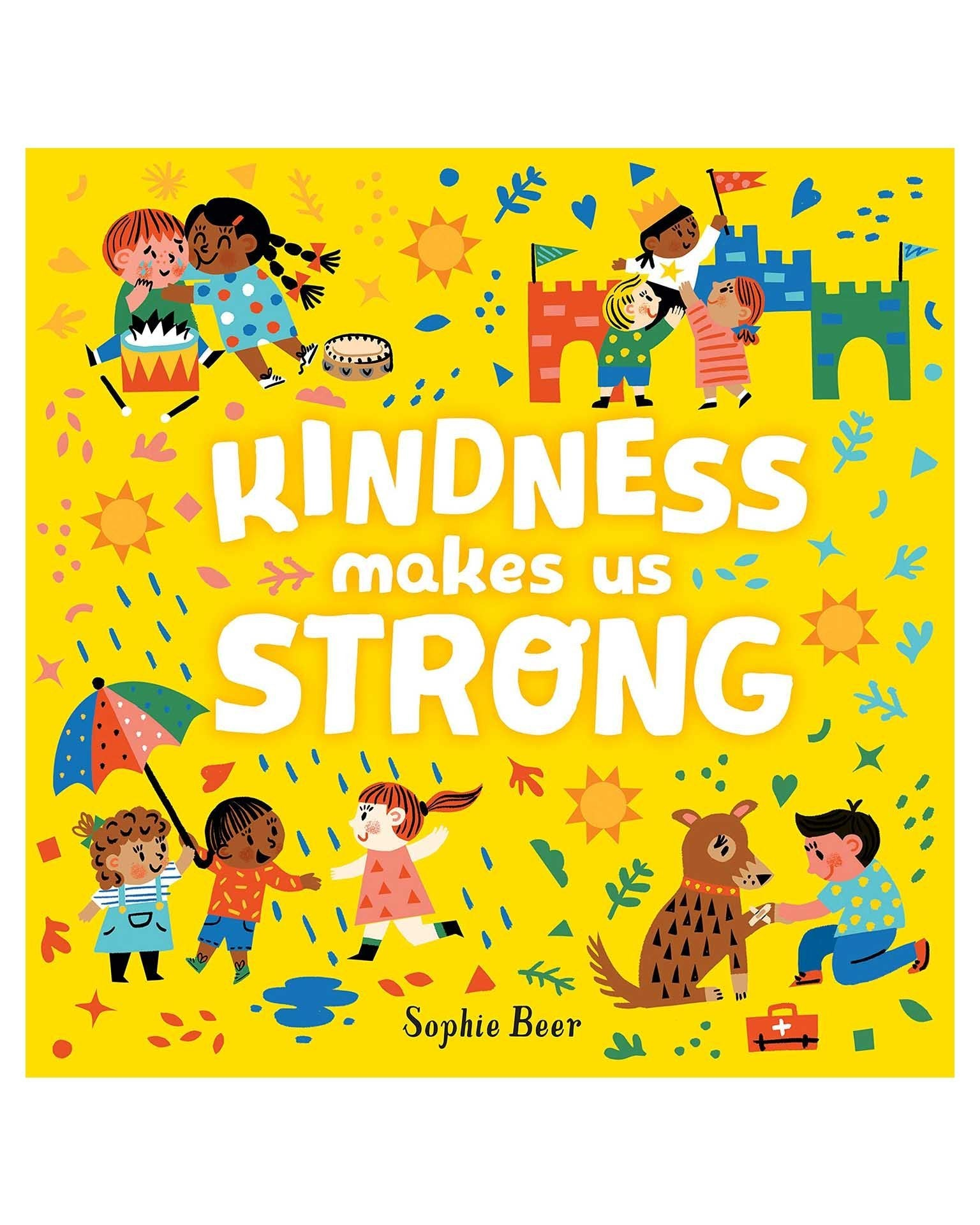Little penguin group play kindness makes us strong