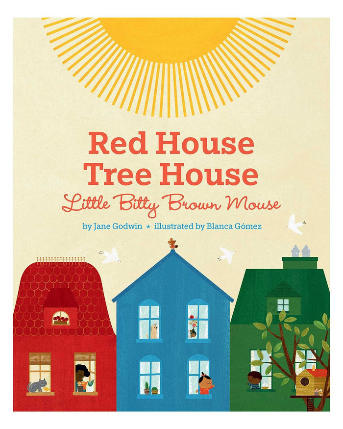 Little penguin group play red house, tree house, little bitty brown mouse