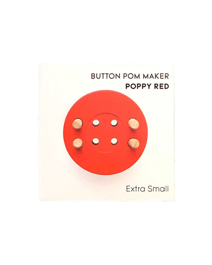 Little pom maker play button pom maker in poppy red
