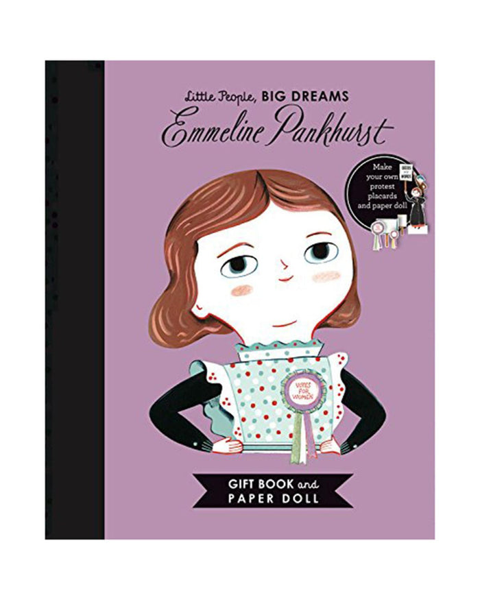 Little quarto publishing group play little people, big dreams: emmeline pankhurst book +paper doll set